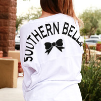 SOUTHERN BELLE JERSEY TOP IN WHITE