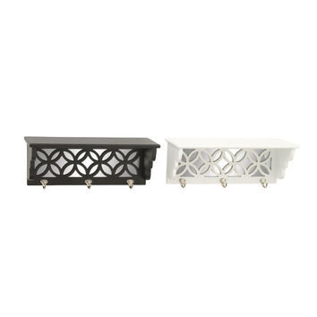 Benzara Fabulous Wood Mirror Wall Shelf Assorted 2