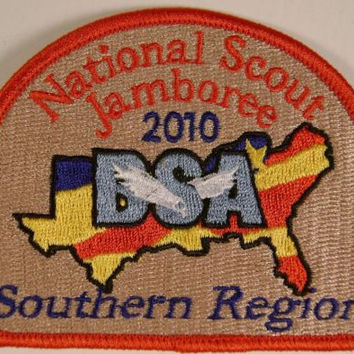 Lot 3 BSA 2010 Jamboree Embroidered Southern Region Patch Boy Scout NJ Flag NEW