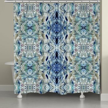 Nature Gone Blue Shower Curtain
