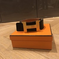 Hermes Belt Large Black/Brown