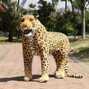 Leopard Realistic Giant Stuffed Animal Plush Toy 43""
