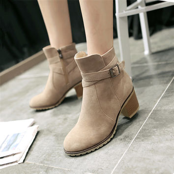 Sadie Leather Ankle Boots