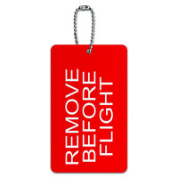Remove Before Flight - Airplane Warning ID Card Luggage Tag