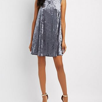 Crushed Velvet Shift Dress