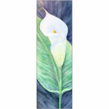 Calla Lily - Metal Print of Acrylic Paint Floral Fine Art