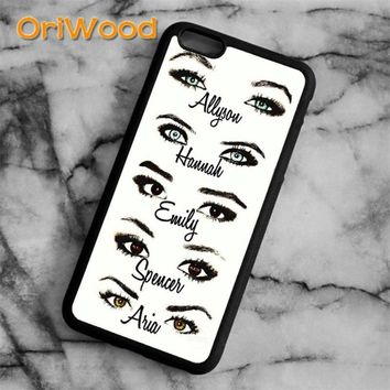 OriWood Cute Pretty little liars Case cover For iPhone 6 6S 7 8 Plus X 5 5S SE Samsung galaxy S5 S6 S7 edge S8 Plus Note 8 shell