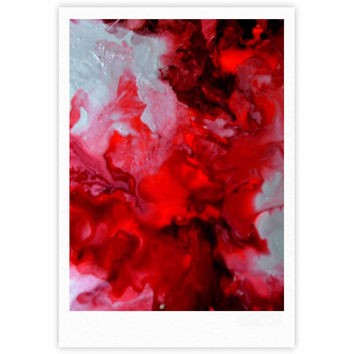 "Claire Day ""Simmer"" Red White Fine Art Gallery Print"