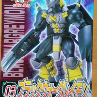 Bandai 2000 Digimon Adventure Black War Greymon Plastic Model Kit Figure