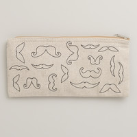 Mustache Canvas Pencil Case - World Market