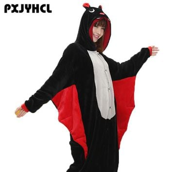 Halloween Adult Black Bat Cosplay Kigurumi Costume For Women Party Anime Pikachu  Jumpsuit Onesuits Sleepwear PajamasKawaii Pokemon go  AT_89_9
