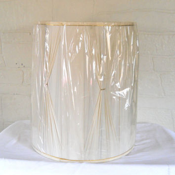 Mid Century Lampshade Drum Lamp Shade Large Drum Lampshade Hollywood Regency Gold Lampshade Table Lamp Shade Large Lamp Shade 60s Decor