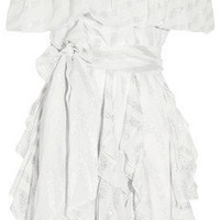 Paul & Joe Iphigeni ruffled silk-blend dress - 60% Off Now at THE OUTNET