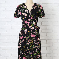 Emory Floral Wrap Dress-FINAL SALE