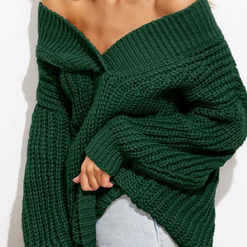 Best Black Off The Shoulder Sweater Products on Wanelo