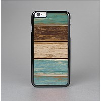 The Wooden Planks with Chipped Green and Brown Paint Skin-Sert Case for the Apple iPhone 6 Plus