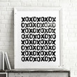 'Xoxo' Hugs And Kisses Illustrated Pattern Art Print