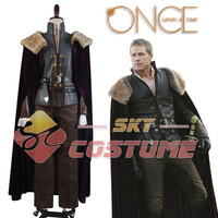Hot Sale Once Upon a Time Prince Charming David Nolan in Enchanted Forest Cosplay Costume Cloak Pants