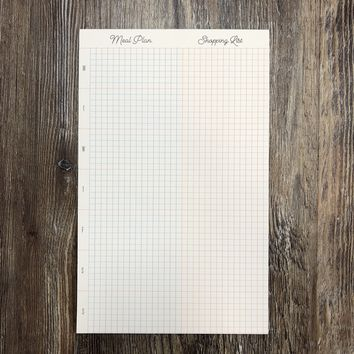 Meal Plan and Shopping List Gridpad