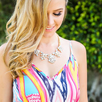 Lily Crystal Statement Necklace