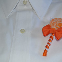Orange Lollipop Candy Boutonniere