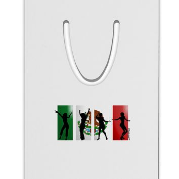Mexican Flag - Dancing Silhouettes Aluminum Paper Clip Bookmark by TooLoud