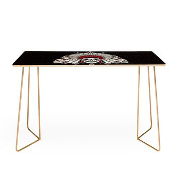 Chobopop Geometric Indian Skull Desk