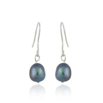 925 Silver Baroque Freshwater Peacock Pearl Earrings