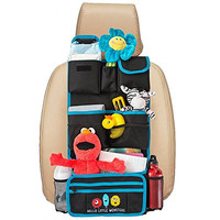Backseat Car Organizer by Hello Little Monsters - Kids Toy Car Storage - Travel Accessories for Baby - Child Car Seat Protector - Perfect for Baby Shower Gift - Must Have Interior Car Accessories