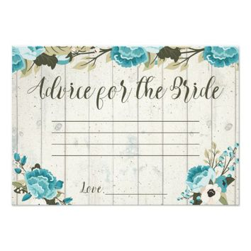 Advice for the Bride Cards Rustic Vintage Wedding