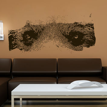 Vinyl Wall Decal Sticker Bear Eyes #5511
