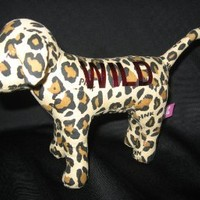 "Victoria's Secret 6"" Plush Leopard Print Wild Pink Dog"