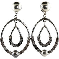 Sterling Silver Double-Hoop Earrings