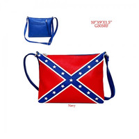 Dixie Girl Conceal Carry Rebel Flag Crossbody Handbag