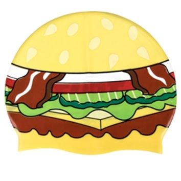Sporti Hamburger Silicone Swim Cap at SwimOutlet.com