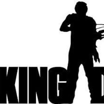 Daryl Bow and Arrow The Walking Dead Logo Vinyl Sticker Decal For Car Windows Laptop