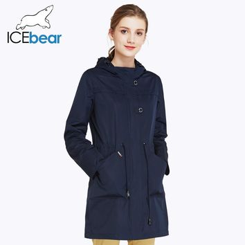 O-Neck Collar Autumn New Arrival Trench Coat Solid Color Woman Fashion Slim Coats Hat Detachable