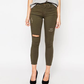 Oasis Ripped Issabella Cropped Jean