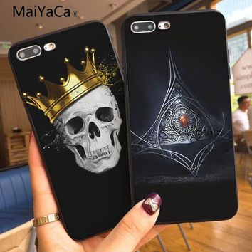 MaiYaCa Queen boss crown king Coque Shell Phone Case  For Apple iphone 7 7plus X 8 8plus 6s 6 6plus 5 5s XR XSMax