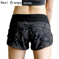 DCCKHG7 HEAL ORANGE Yoga Shorts Women Compression Short Pant Pantalon Corto Yoga Women Gym Fitness Yoga Shorts For Workout Sport Running