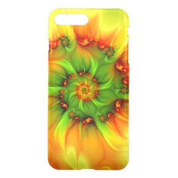 Hot Summer Green Orange Abstract Colorful Fractal iPhone 7 Plus Case