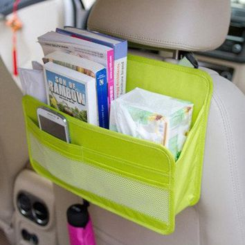 Waterproof Car Storage Box Hanging Organizer Moving Box Oxford Card Holder Storage Container