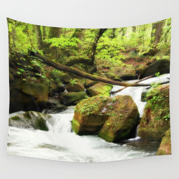 Forest Green Wall Tapestry by Chris' Landscape Images & Designs