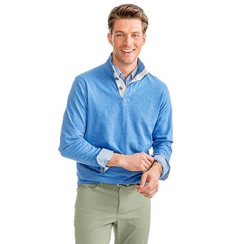 Heathered Gulf Stream Lightweight Pullover in Deep Water by Southern Tide