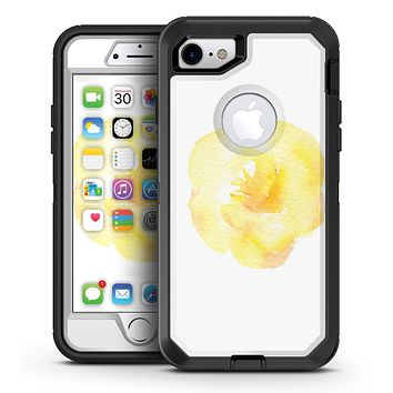 Yellow Orange Watercolored Hibiscus - iPhone 7 or 7 Plus OtterBox Defender Case Skin Decal Kit