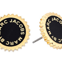 Marc by Marc Jacobs Saw Tooth Enamel Disc Studs Earring