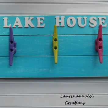 Boat Cleat Hooks - Boat Cleat Rack - Wall Hooks - Beach Decor - Lake House Decor - Boat Cleat - Dock Cleat - Nautical Decor - Ocean Decor
