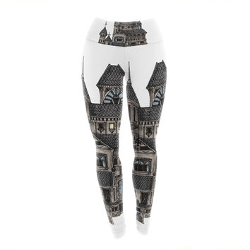 "Sophy Tuttle ""House of Usher"" Haunted Yoga Leggings"