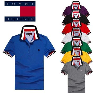 2018 Hot Sale Tommy Hilfiger MEN Polo Shirt 100% COTTON TOP