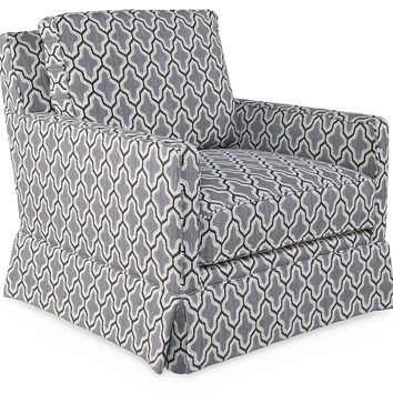 Westport Swivel Chair, Gray/White, Accent & Occasional Chairs